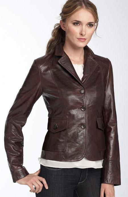 áo vest da nữ