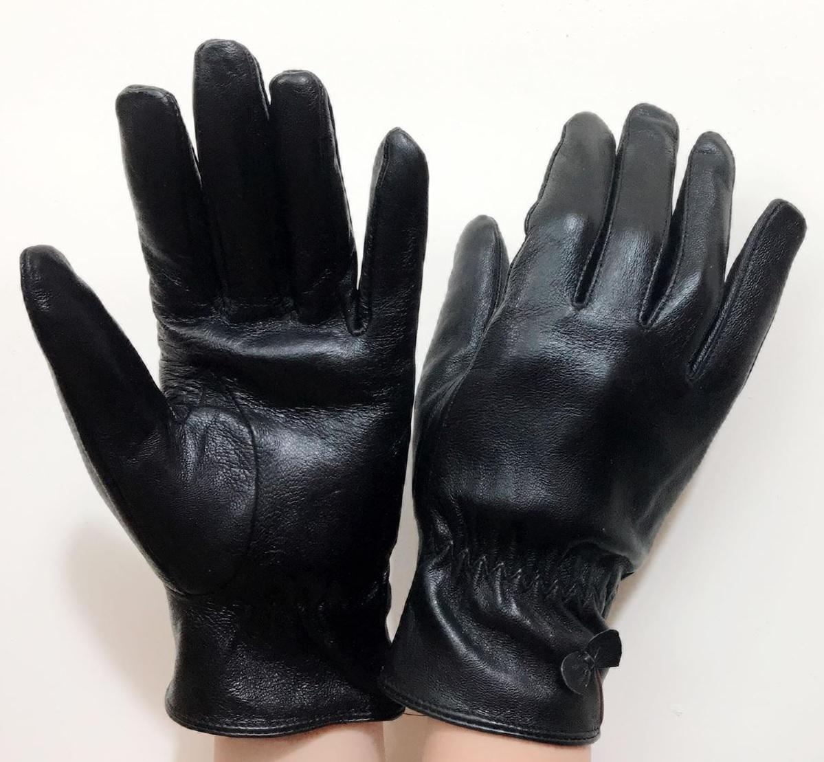 găng tay da thật nữ