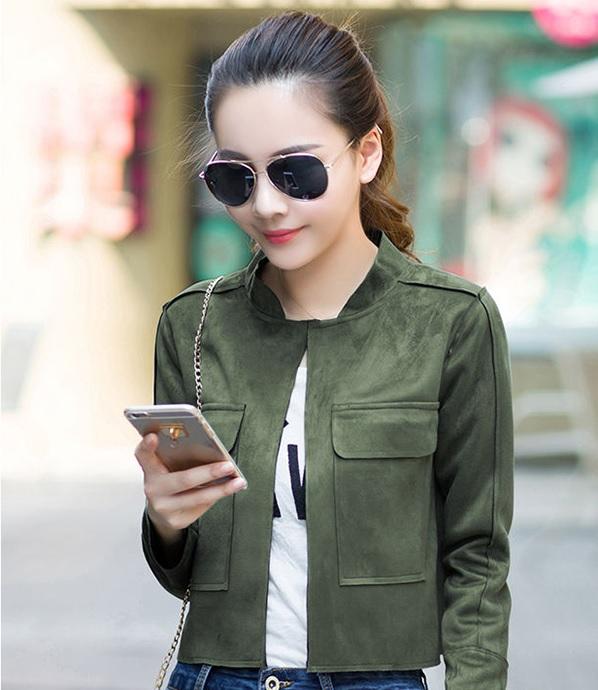 Những mẫu áo khoác da lộn trẻ trung năng động dành cho nữ.